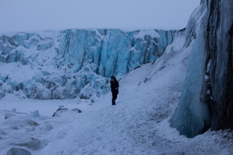 Svalbard_Paulabreen_Aurora